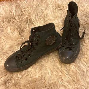 All Black Converse Chuck Taylor All Star, Sz 9